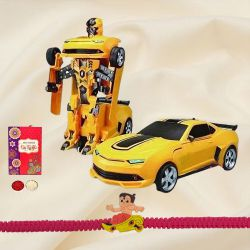 Transformer Car from Mitashi with Chota Bheem Rakhi