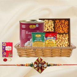 Smashing Rakhi Treat Basket of Love and Happiness