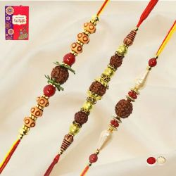 Fabulous Set of Rudraksh Rakhis