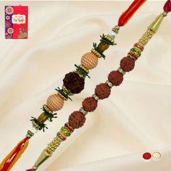 Marvelous Rudraksh Rakhi Set