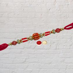 Marvelous Selection of Thread Rakhi with Roli Tilak and Chawal on Raksha Bandhan