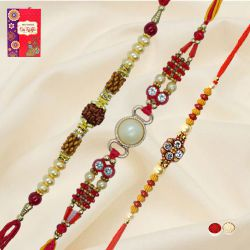 Amazing Trio Rakhi Set