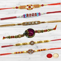 Traditional Set of 6 Rakhis