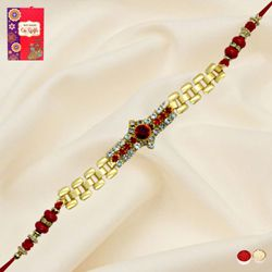 Exclusive Golden Bracelet Rakhi