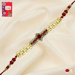 Exclusive Golden Bracelet Rakhi