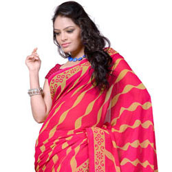 Breathtaking Georgette Printed Saree with Amazing Gesture