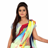 Arresting Multicoloured Digital Printed Georgette Saree