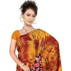 Enthralling Women's Suredeal Georgette Printed Saree