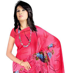 Lovely Collection of Suredeal Georgette Printed Saree