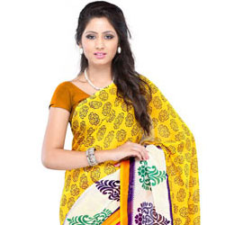 Refined Brightness Faux Georgette Saree