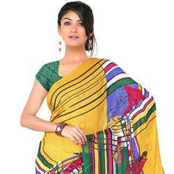 Lively Luster Chiffon Saree