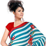 Cultivated Poise Chiffon Saree