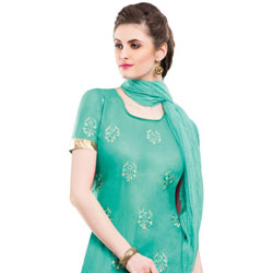 Arresting and Attractive Green Coloured Salwar Kameez