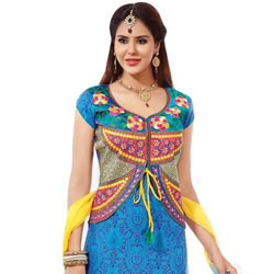 Trendsetting Multicoloured Pure Cotton Salwar Suit