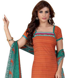 Spectacular Printed Siya Crepe and Chiffon Salwar Suit