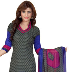 Fascinating Siya Crepe N Chiffon Printed Salwar Suit for Women