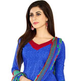 Trendy Welcome Cotton N Chiffon Printed Salwar Suit for Women