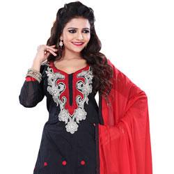 Glamorous Cotton Printed Salwar of Black Colour Selection