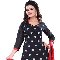 Rocking Black Cotton Printed Salwar