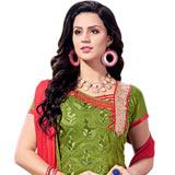 Flattering Printed Chanderi Salwar Suit