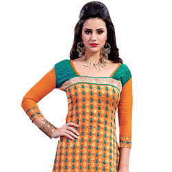Chromatic Refulgence Chanderi Salwar Suit