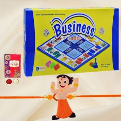 Elegant Business India the Great Whole Family Game with Chota Bheem Rakhi and Roli, Tilak and Chawal.