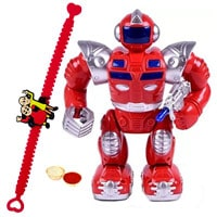 Fabulous Gift of Battery Operated Walking Robot with a Free Rakhi Roli Tilak and Chawal for your Kid Brother