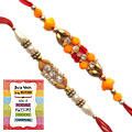 Amazing Rakhis and Rakhi Card with Thread Rakhi