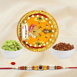 Astonishing Selection of Rakhi Thali, Pack of Dry Fruits with Rakhi for Raksha Bandhan Celebration