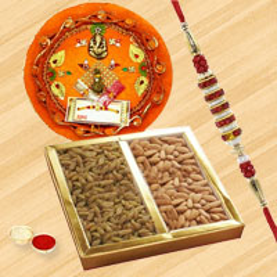 Astonishing Selection of Rakhi Thali, Pack of Dry Fruits with Rakhi for Raksha Bandhan Celebration
