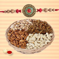 Designer Rakhi Wishes Gift of Rakhi and Dry Fruits  for your Precious Brother