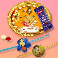 Splendid Kid Rakhi With Rakhi Thali