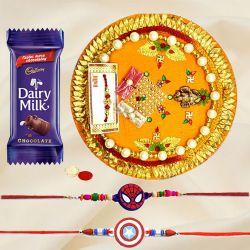 Splendid Kid Rakhi With Rakhi Thali