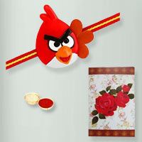 Graceful Angry Bird Kid Rakhi