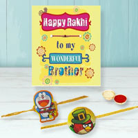 Remarkable Chota Bheem N Angry Bird Kid Rakhi With Rakhi Card