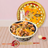 Striking Rakhi Thali Array