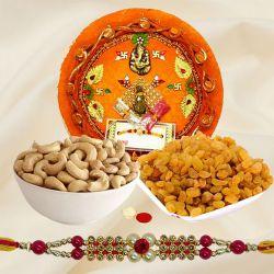 Gaudy Rakhi Thali Fusion