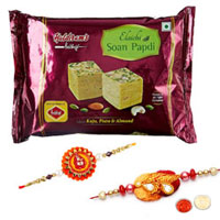 Arresting Rakhi with Soan Papdi Gift Duo