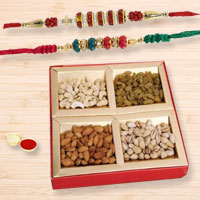 Dual Hearty Rakhi Celebration Pack