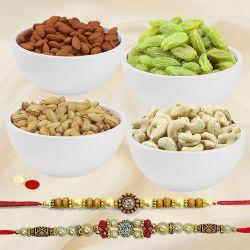 Dual Hearty Rakhi Celebration Pack