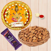Pleasing Rakhi Thali Gift Set