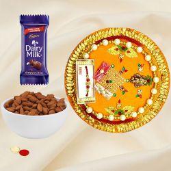 Pleasing Rakhi Thali Gift Set