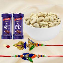 Cashew Special Bhaiya-Bhabi Rakhi Combo