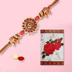 Beatific Om Rakhi