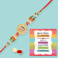Goodwill Omkar Rakhi and Rakhi Card with Thread Rakhi