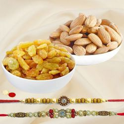 Magnificent Rakhi Duple and Appetizing Dry Fruits Combo