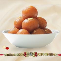 Classic Gift of Single Rakhi N 500 gm Gulab Jamun