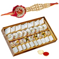 Exclusive Collection of One Rakhi N 500 gm Kaju Mithai