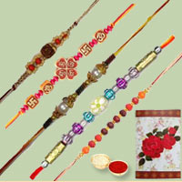 Classic Gift Combo of 5 Fancy Rakhi