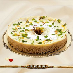 Rakhi with 1pcs. Ghevar